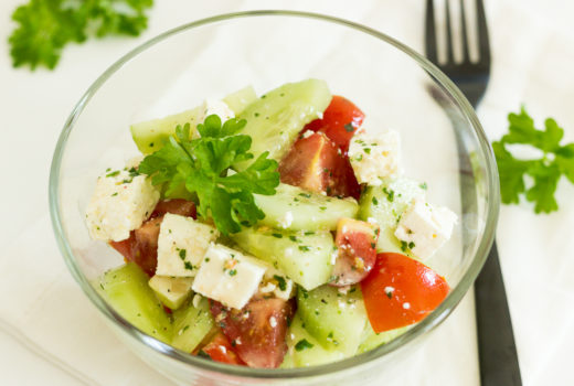 Gurken-Tomaten-Feta-Salat