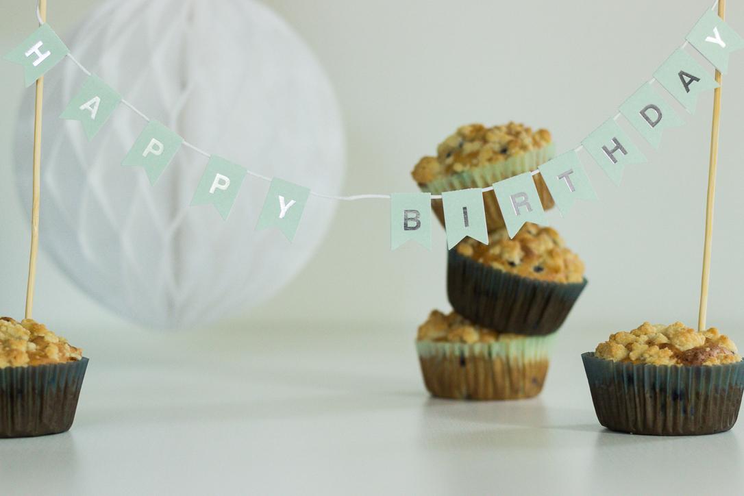 Geburtstagsmuffins
