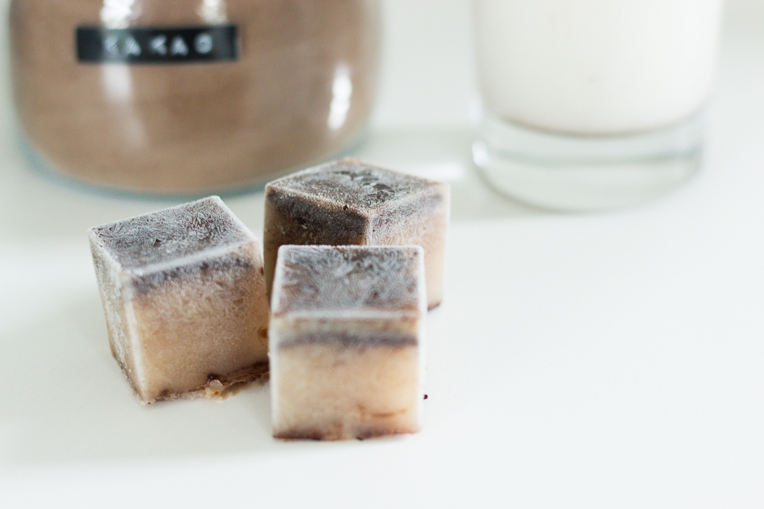 Eiswürfel aus Kakao