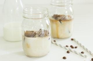 Eiswürfel aus Kaffee