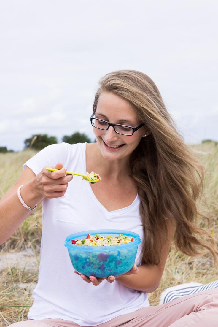 Salat zum Picknicken