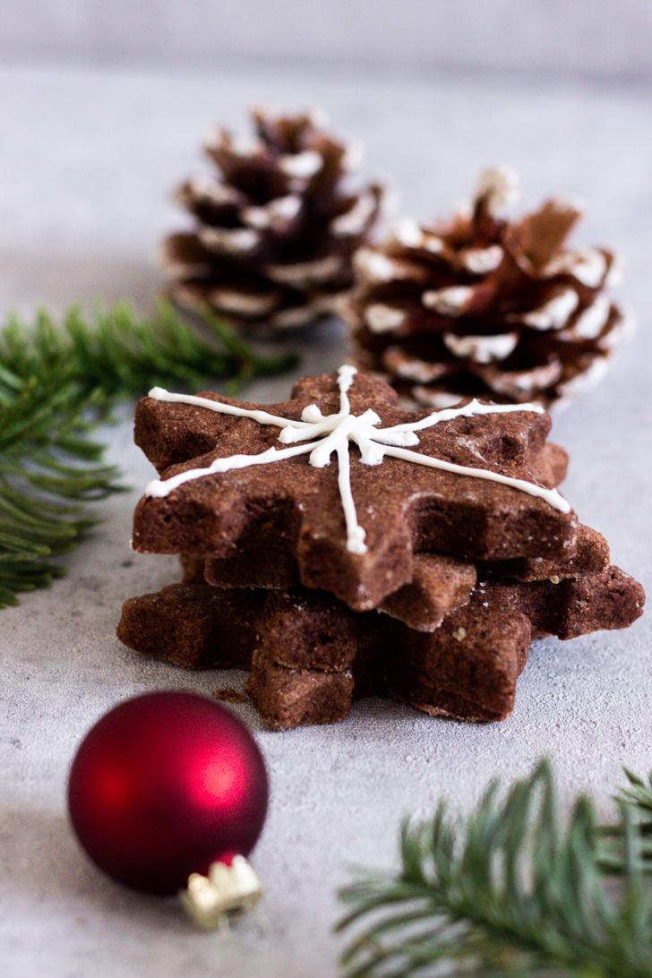 Schokoladen-Schneeflocken