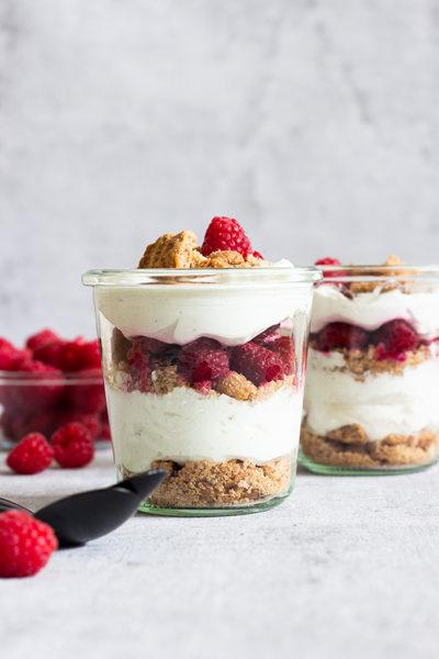 Himbeer-Spekulatius-Dessert