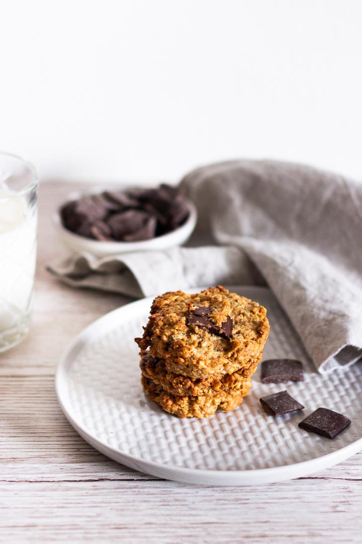 Cookies mit mit Haselnüssen und Chocolate Chips