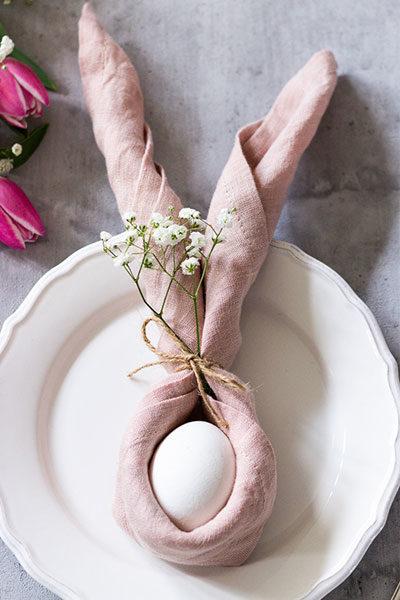 Wunderschöne Tischdekoration zu Ostern